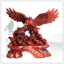 Hot selling wooden color resin eagle statue ,out door big eagle statue for business gifts
