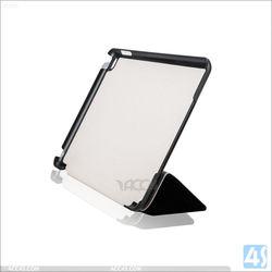 New Arrive In Stock Litchi Grain PU For iPad mini 4 Leather Case, For iPad mini 4 Case Tri-Fold Stand Leather Cover Case