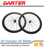 700C 38mm tubular road carbon bicycle wheels