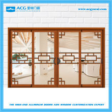 soundproof thermal break aluminum frame sliding doors with Chinese traditional style