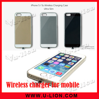 Qi Standard wireless receiver case for iphon5/5s wireless charging case ultra slim