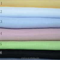 China manufacture wholesale natural 100% linen fabric for shirt