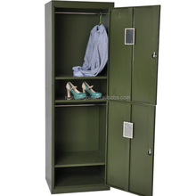 Chinese Manufacturer Metal Furniture Changing Room KD Structure Powder Coated Steel Bedroom Steel Clothes Storage Bench Locker/