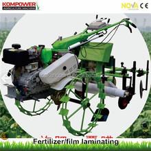 Multi-functional hiller, diesel engine hilling machine,fertilizer and film laminating machine