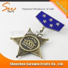 Técnica de proyección y regalo de empresa, regalos promocionales / souvenirs / decoración antigua medalla de bronce