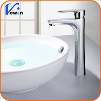 2015 high rise chrome finished silver bathroom sink mixer tap