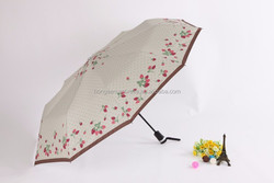 fashion Pongee Material and Umbrellas Type Top Quality 3 Fold Auto Open Umbrella