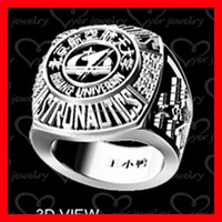 New arrival 2015 custom made school ring for college student product with deep engrave