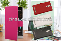 Genuine Real Leather Case Flip Cover Card Slot Wallet for Sony Ericsson Xperia S Xperia Arc HD LT26i