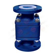 PTFE PFA FEP Lined Floating Ball check valve manufacturer