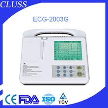 High quality portable ecg machine price of ecg machine paper ECG-2003G FDA