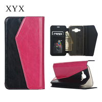 Flip style leather case, for samsung galaxy j5 back cover, for samsung galaxy j5 j5000