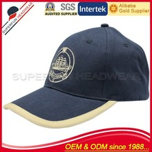 wholesale dark blue men sporting golf cap for promotion