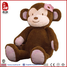 new year monkey toys for girls stuffed monkey with flower
