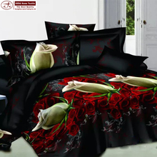 best selling imports rose pattern comforter sets 133*72 cotton fabric 3d bedding sets