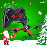Christmas latest arrival 2.4G 6 axis 4channel middle size rc quadcopter drone with camera and protective ring