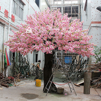 stunning cheap good quality plastic fiberglass artifciail cherry blossom tree for wedding