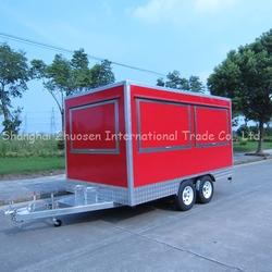 big wheels food cart trailer/food van/gas food cart ZS-VT390 A