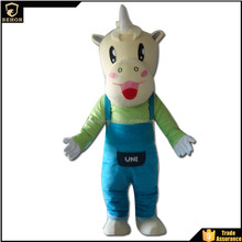 Hot Horned horse mascot costume alone the wildebeest sale adult type