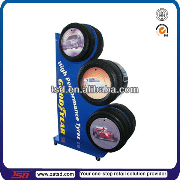 Tsdm40 Factory Custom Made Retail Store Floor Metal Tire Display Fascinating Tire Display Stands