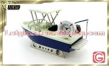 Concept zinc alloy fishing boat 3D desk clock