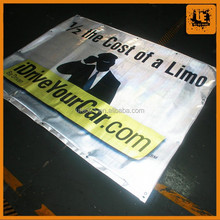 Shanghai factory full color printing reflective glowing banner for sale