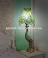 venta al por mayor de tiffany lámpara de mesa con pavo real polly casquillo de la lámpara