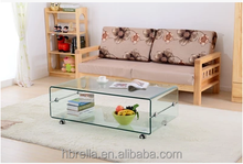 bend glass coffee table with stools