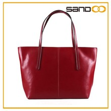 Top quality lady leather hand bag, popular elegant female hand bag