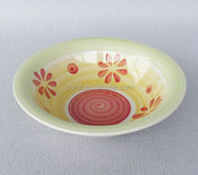 latest 7''/ 8.25'' /9'' hand painted ceramic soup bowl with popular design