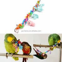 Pet Parrot Cockatiel Parakeet Bird Chew Toys Animal Pattern Birds Bites Swing Cages Chain Toy New