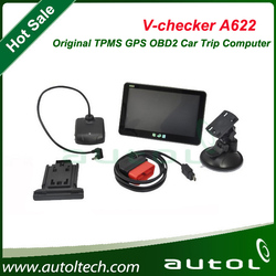 A+Quality V-checker A622 Trip Computer & GPS Navigator & TPMS & Oil Statistics Vchecker A622 Auto Diagnostic Tool