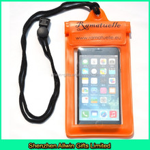Custom orange small pvc bag waterproof for cell phone