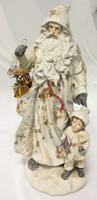14.65 inch christmas village santa ornaments christmas resin figurine
