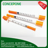 Personal use insulin syringe/ Blister pack/ Poly bag Ultra fine needle 1ml insulin with needle