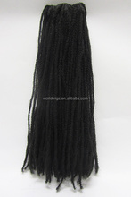 Marley hair extension kanekalon synthetic dreadlocks braiding factory price and top quality