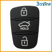 3 Buttons Rubber Remote Replcement Key Pad For Hyundai I20 I30 Ix35 Elantra for Kia K2 K5
