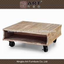 muebles antiguos europea salón de diseño de muebles de madera reciclada mesa de café