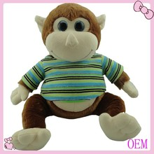 Soft stuffed plush animal toy monkey