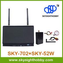 SKY-702 7inch FPV Monitor 32CH 5.8G Diversity Dual Receiver with 5.8Ghz 2000mw 2W transmitter SKY-52W