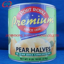 Brands cheap price Canned fruits manufacturer , A10 canned pear in light syrup