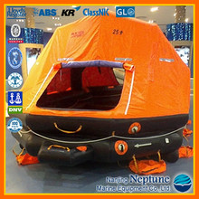 Marine Inflatable Life Raft, Throw-over/Davit-launch/Self-righting/Open Reversible Liferaft, Self Inflating Life Raft for Sale