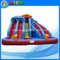 Backyard used inflatable pool and slide water park slides for sale