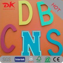 OEM laser eva leather vinyl fancy 3d alphabet letter sticker in top selling