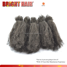 Natural afro kinky wave seven pieces 1B and 27 color human hair bulk