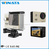 Top Rated Under Water 30 Meters Sport DV HD 1080P Manual Mini WiFi Sports Camera with 170 Degree Wide Angle