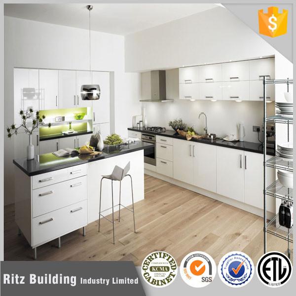 2015 ritz free design modern white lacquer italian kitchen for Italian kitchen cabinets online