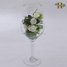 wholesale martini glass vases centerpieces,giant wine glass vase