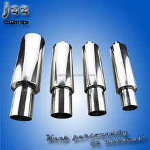universal 2.5 inch inlet 4 inch outlet racing car exhaust muffler in modified system
