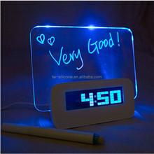 Christmas Gift Write Word Led Clock For Kids